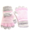 Lichtroze met grijs kinder handschoenen