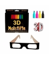 3D kleur viltstiften/kleurstiften set