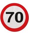 70 jaar servetten met verkeersborden