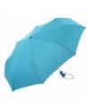 Lichtblauwe klap paraplu in tasje