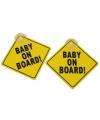 Baby on board auto bordjes