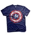 Feest shirt Captain America schild