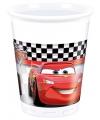 Cars thema bekertjes van plastic 8 stuks