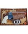 Cowboy pistolen blauw