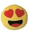 Emoticon kussen verliefd 30 cm