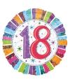 Gekleurde folieballon 18 jaar