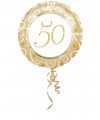 Gouden 50 jaar folie ballon