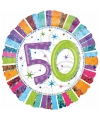 Gekleurde folie ballonnen 50 jaar