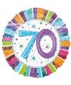 Folie ballonnen 70 jaar 45 cm