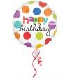 Helium folie ballon Happy Birthday