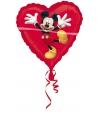 Mickey Mouse folie ballon rood