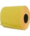 Gele toiletpapier rollen