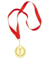 Gouden kampioens medaille met lint