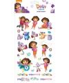Dora thema stickers groot