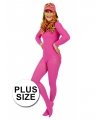 Grote maten maillot roze 3XL