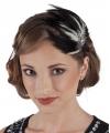 Vintage haarbanden met veren