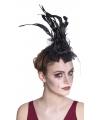 Haarbanden met sluiers zwart