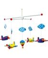 Baby mobiel met gekleurde vliegtuigen 44 cm