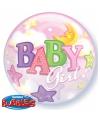 Helium ballonnen geboorte baby girl