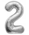 2 jaar folie ballon zilver