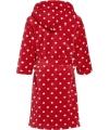 Rode fleece badjas met Oeko Tex keurmerk voor kinderen
