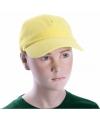 Sportdag kinder team caps geel
