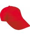 Sportdag kinder team caps rood