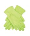 Lichtgroene kinder fleece handschoenen
