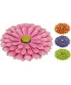 Gekleurde bloem van metaal 34 cm
