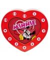 Rode klok met Minnie Mouse plaatje