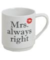 Koffie bekers Mrs Always Right