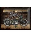 Muurplaat Harley Davidson Genuine 30 x 40 cm