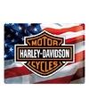 Amerikaanse vlag en Harley Davidson decoratie plaat