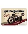 Harley Davidson decoratie plaat
