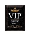 Parking only metalen wand plaat