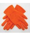 Oranje kinder fleece handschoenen