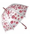 Paraplu met kusjesprint 85 cm
