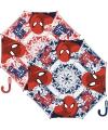 Paraplu Spiderman rood