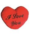 I Love You kussen hartvormig 60 cm