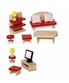 Speelgoed meubeltjes woonkamer voor poppenhuis
