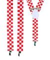 Rood met wit geblokte bretels