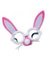 Roze haas bril met oren en snuit