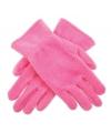 Roze kinder fleece handschoenen