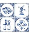 Feest versiering servetten Delfts blauw