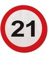 21 jaar servetjes verkeersborden