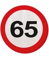 65 jaar servetjes verkeersborden