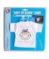 T-shirt baby on board meisje voor in de auto