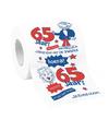 Funny 65 jaar feest toilet papier