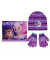 Winter set kids Frozen paars