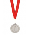 Bronzen feest medaille met halslint